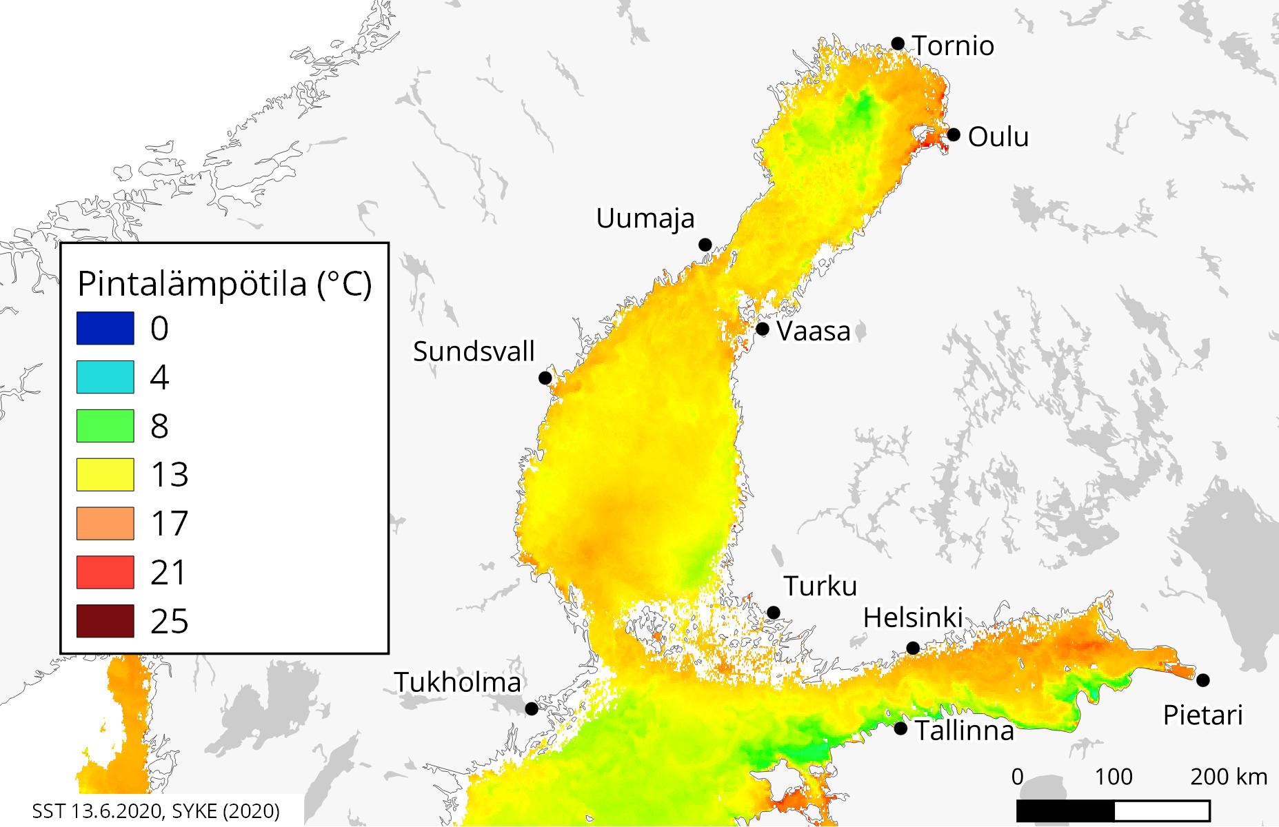 Oulujärvi Jäätilanne